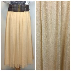 Zara Trafaluc Collection Gold Metallic Skirt